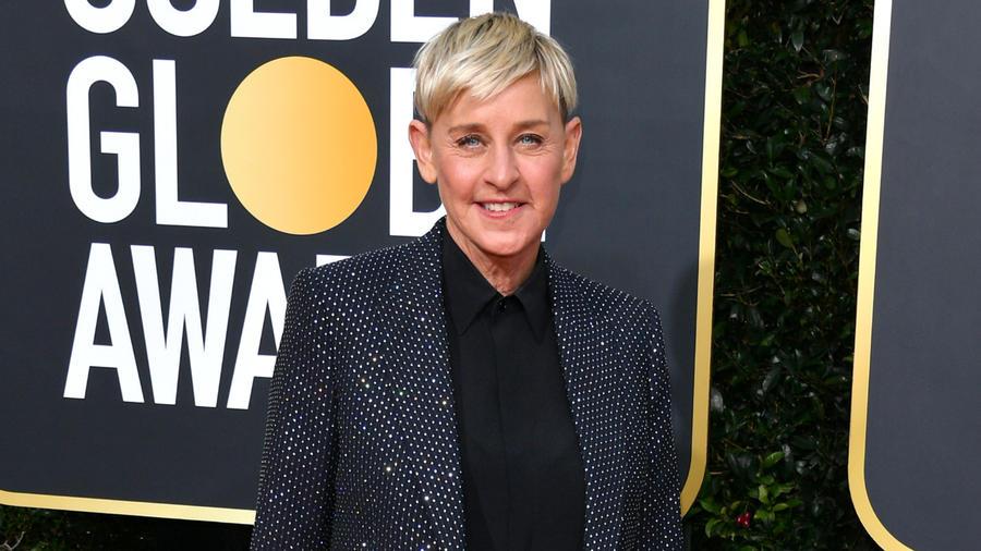 Ellen DeGeneres en la gala de los Golden Globe Awards 2020