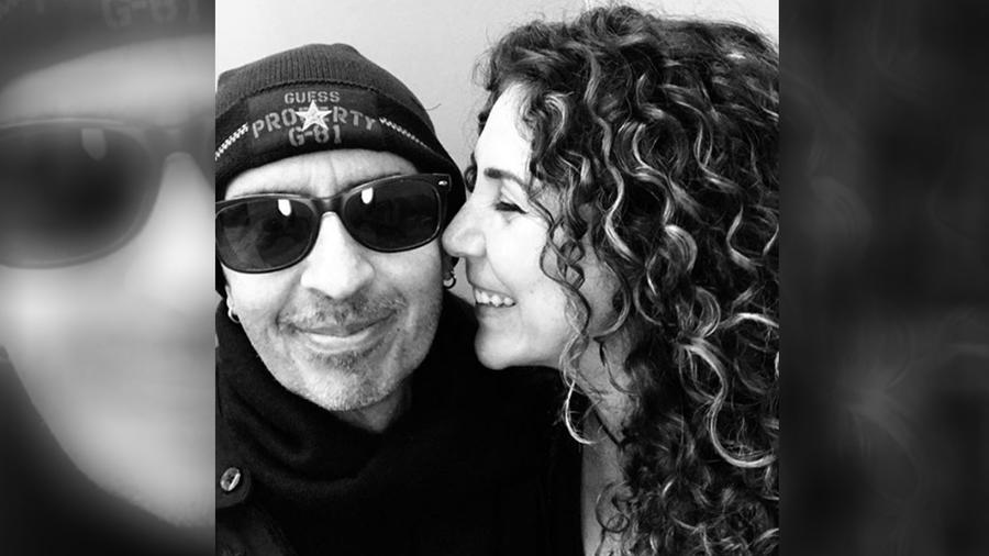 Memo del Bosque con su esposa Vica Andrade