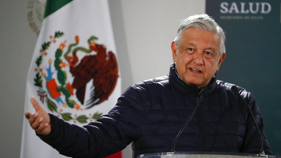 El presidente Andrés Manuel López Obrador durante un discurso en Ciudad de México, el 3 de abril de 2020