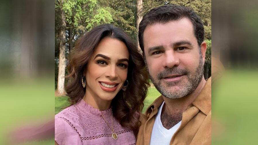 Eduardo Capetillo y su esposa
