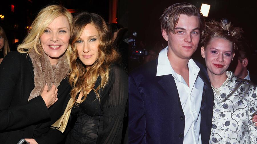 Kim Cattrall, Sarah Jessica Parker, Leonardo DiCaprio y Claire Danes