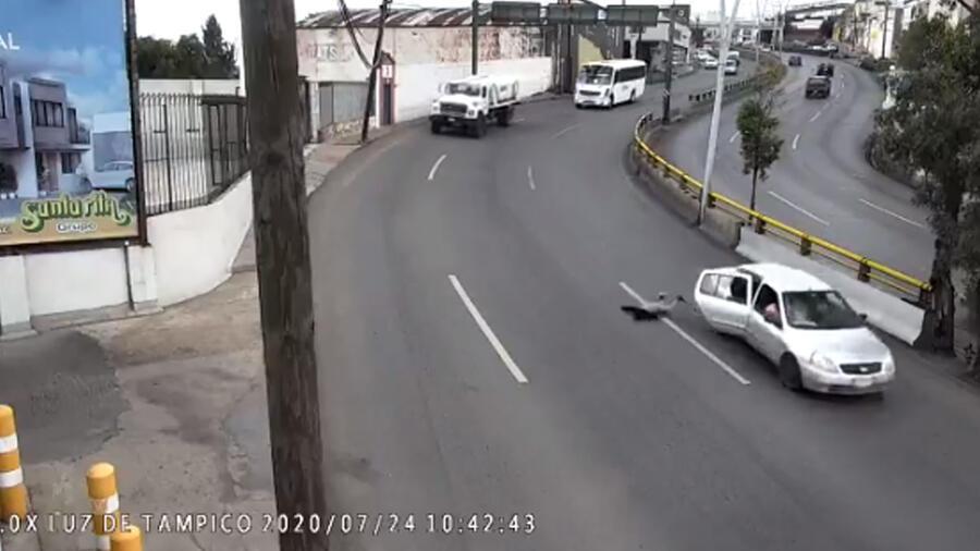 Niño sufre accidente