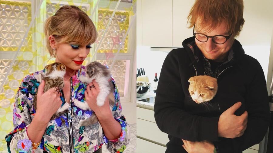 Taylor Swift y Ed Sheeran