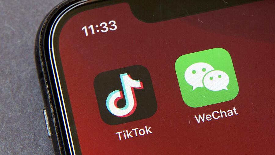 Aplicaciones TikTok y WeChat.