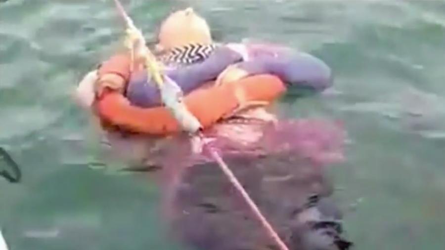 Mujer naufragó en Colombia