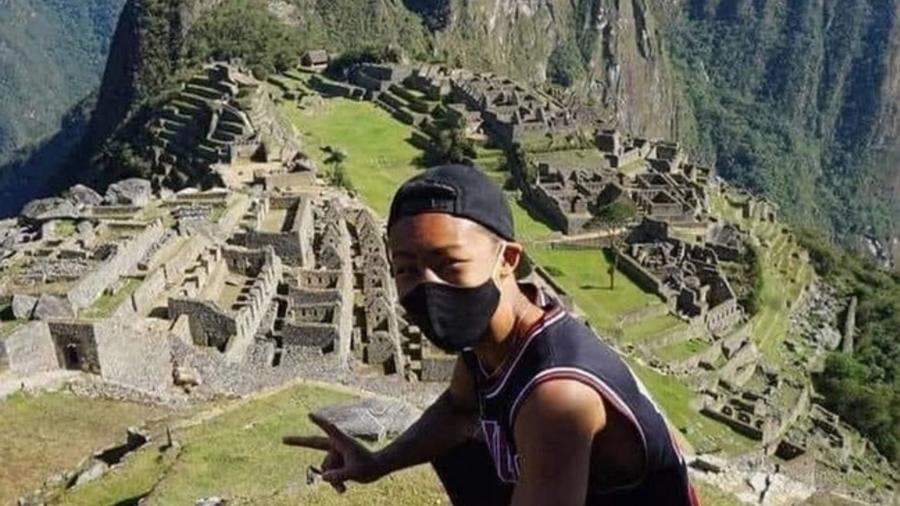 Turista japonés Machu Picchu