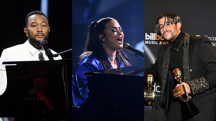 John Legend, Demi Lovato y Bad Bunny