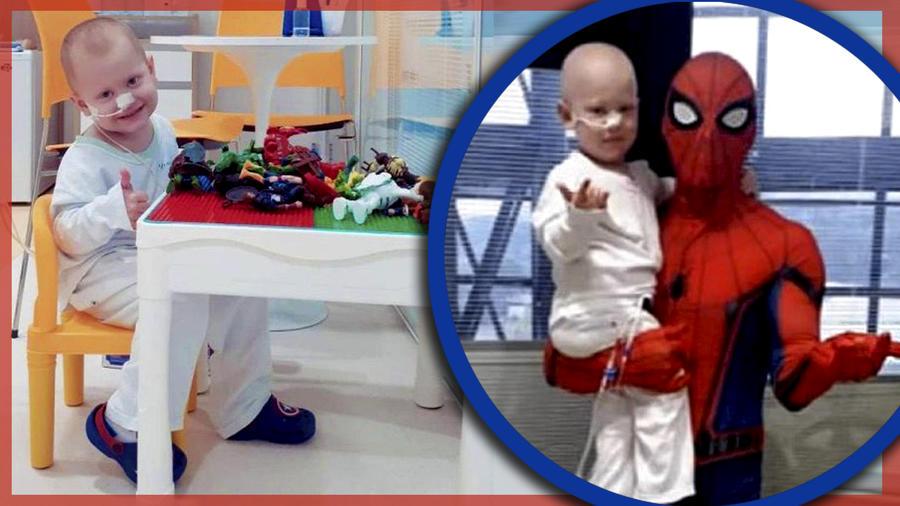 Papá Spiderman trasplante hijo