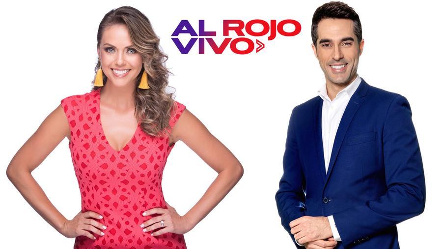 Jessica Carrillo y Antonio Texeira presentadores de Al Rojo Vivo