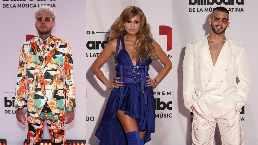Dalex, Paulina Rubio y Manuel Turizo en Premios Billboard 2020