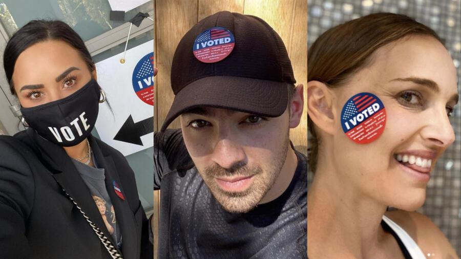 Así votaron los famosos: Natalie Portman, Joe Jonas, Demi Lovato