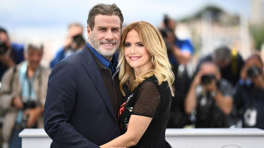 John Travolta y Kelly Preston en Cannes, Francia 2018