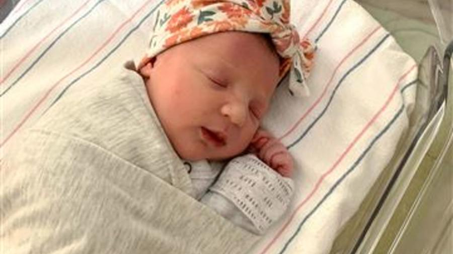 La bebé Molly Gibson, nacida de un embrión congelado hace 27 años.
