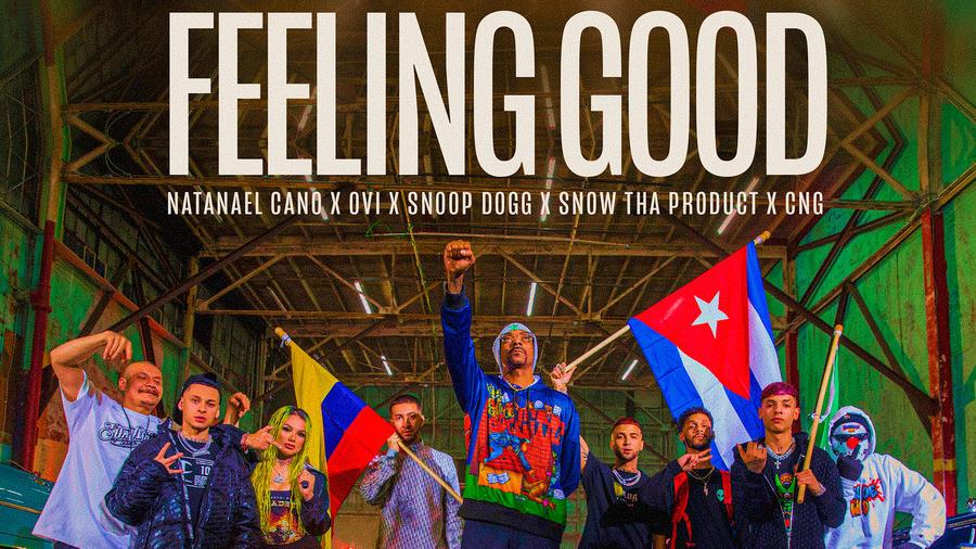 """Snoop Dogg, una de las caras más notables de la escena hip-hop de la costa oeste, continúa su incursión en la música latina con el anticipado lanzamiento de la innovadora colaboración """"Feeling Good"""" al lado de Natanael Cano, Ovi, Snow Tha Product y CNG. E"""