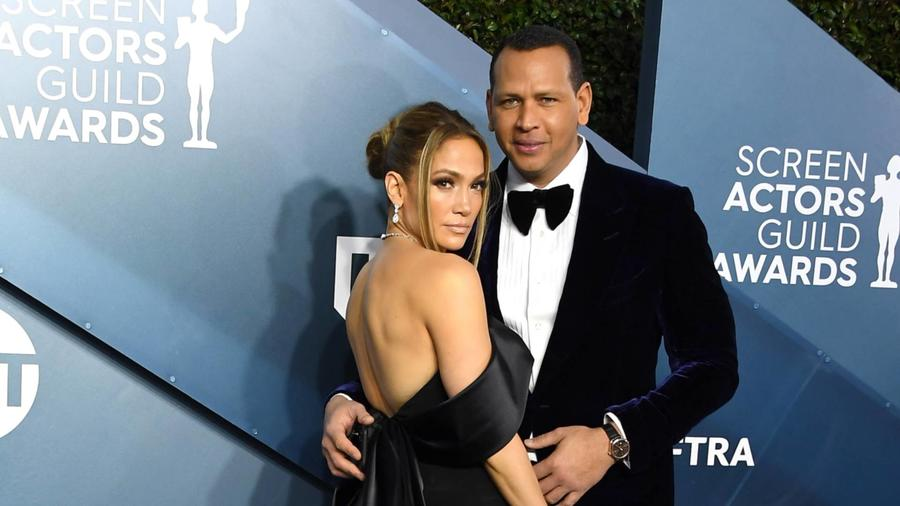Jennifer Lopez y Alex Rodriguez, SAG Awards 2020
