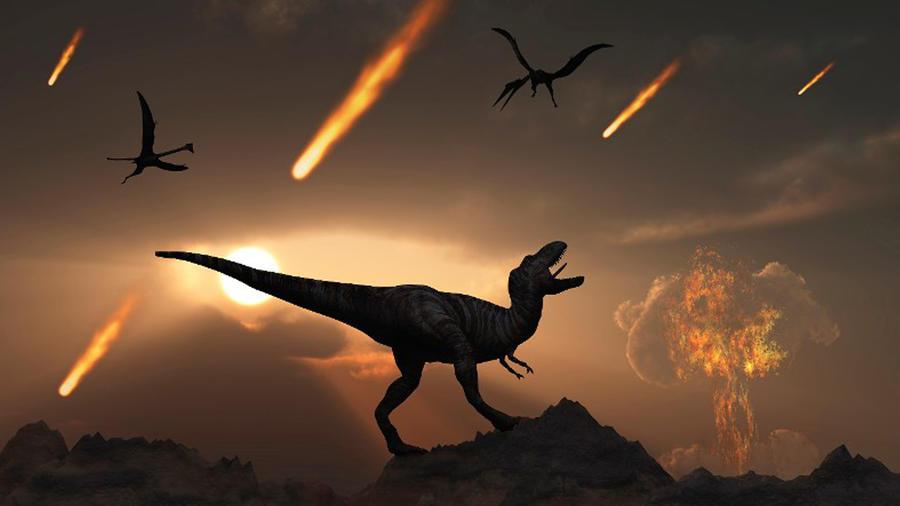 Huesos de dinosaurios en la Luna