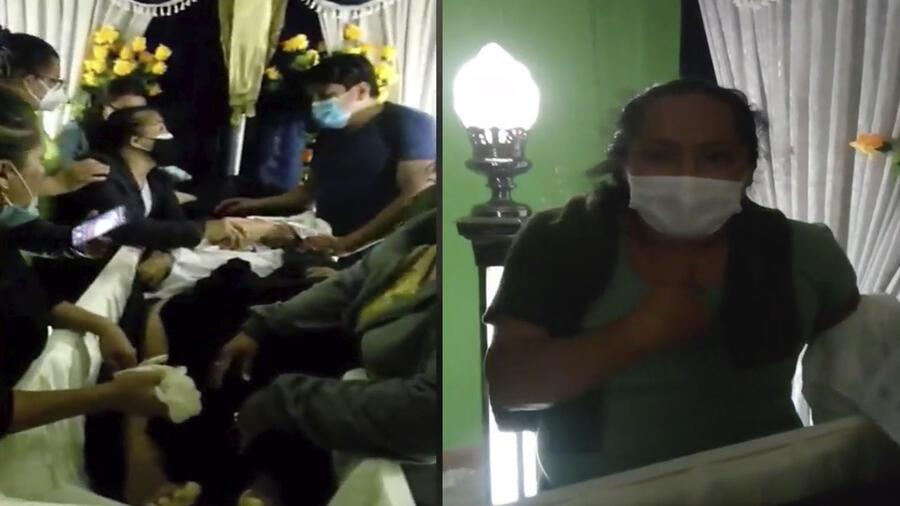 Abren ataúd en Perú