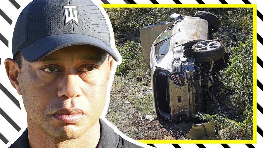 Tiger Woods: Salen a la luz imágenes del lugar del accidente