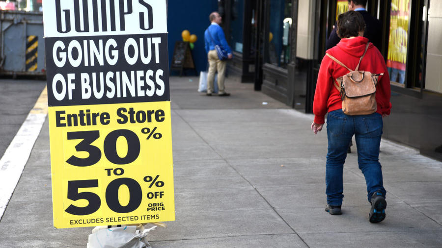 Cierre de un negocio en San Francisco, Califonia