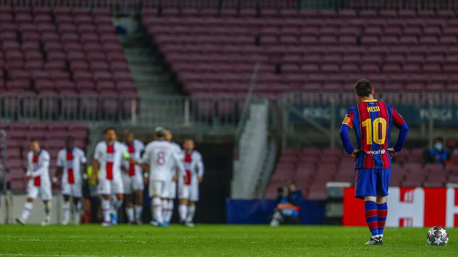 Lionel Messi, estrella del FC Barcelona, tras un gol de un equipo rival en un partido de este año.