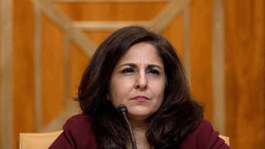 Neera Tanden comparece ante una audiencia del Comité del Senado sobre el Presupuesto