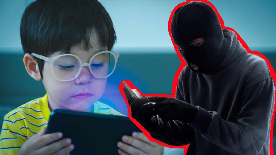 Ladrón roba celular a niño
