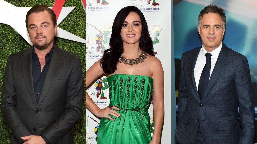 Leonardo DiCaprio, Katy Perry y Mark Ruffalo
