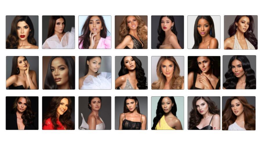 Top 21 finalistas Miss Universo 2021, 69na. edición