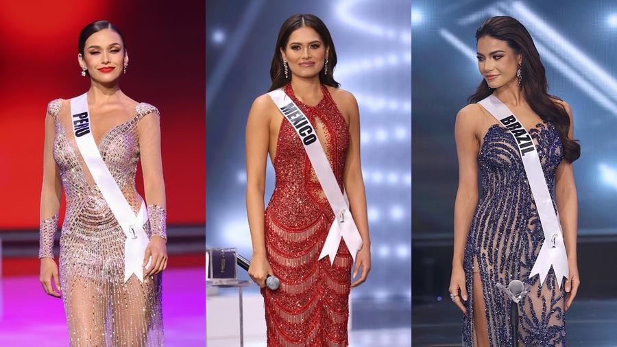 Miss Perú, Miss México y Miss Brasil en Miss Universo 2021