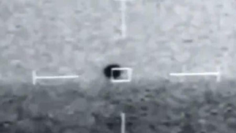Captura de pantalla del video registrado por la Marina de Estados Unidos en 2019.