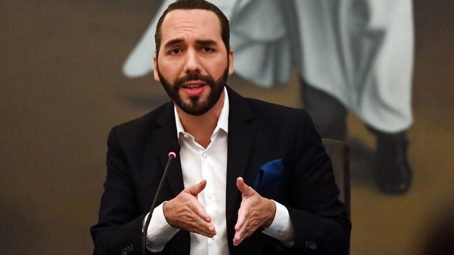 El presidente salvadoreño Nayib Bukele, en febrero de 2021.