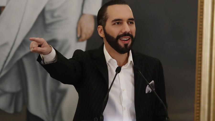El presidente salvadoreño, Nayib Bukele