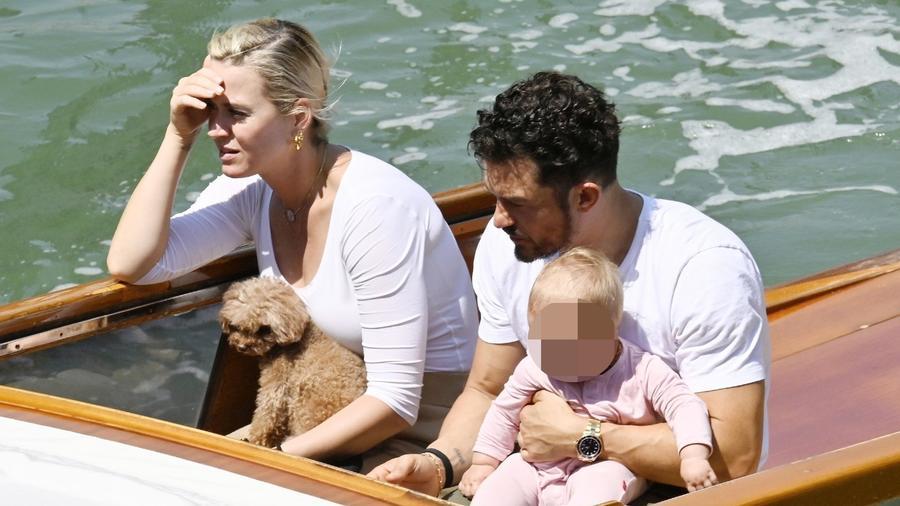 Katy Perry, Orlando Bloom y Daisy Dove en Venecia