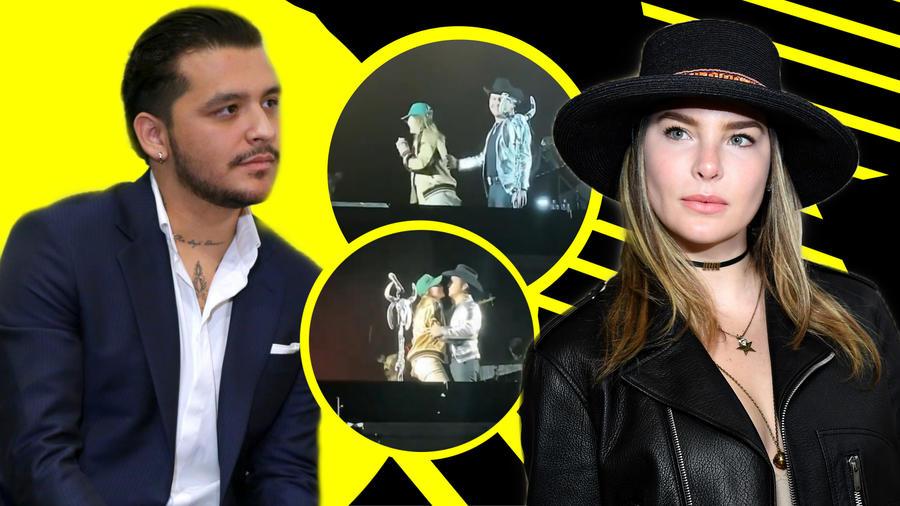Belinda provoca tremendo escándalo en medio de presentación de Christian Nodal