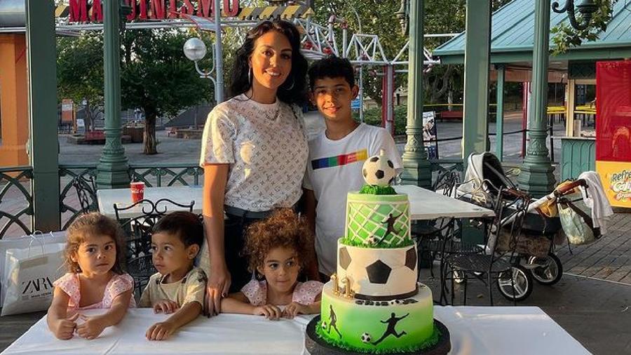 Georgina Rodríguez y sus hijos