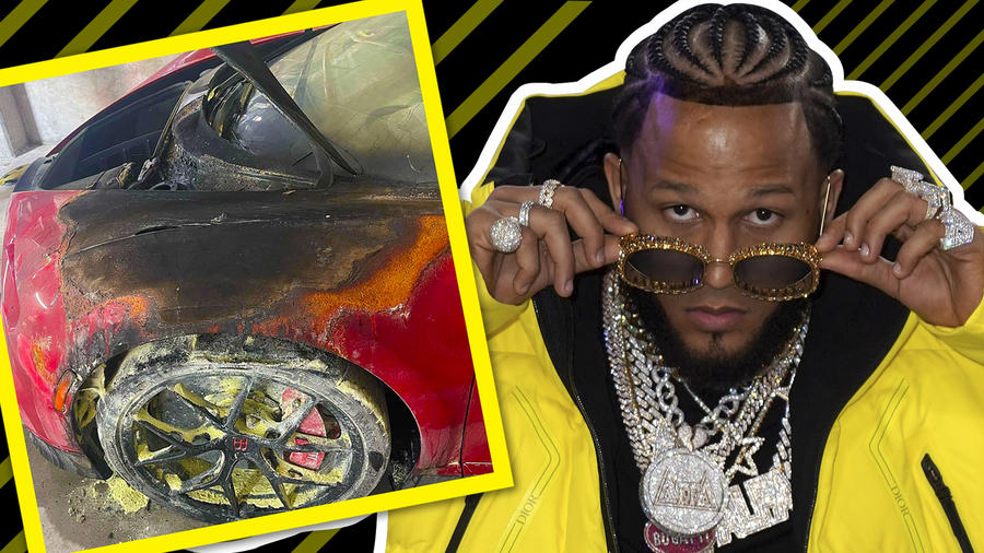 El Alfa: Incendian su Bugatti de más 3 millones y teme por su vida