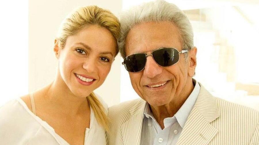 Shakira con su papá