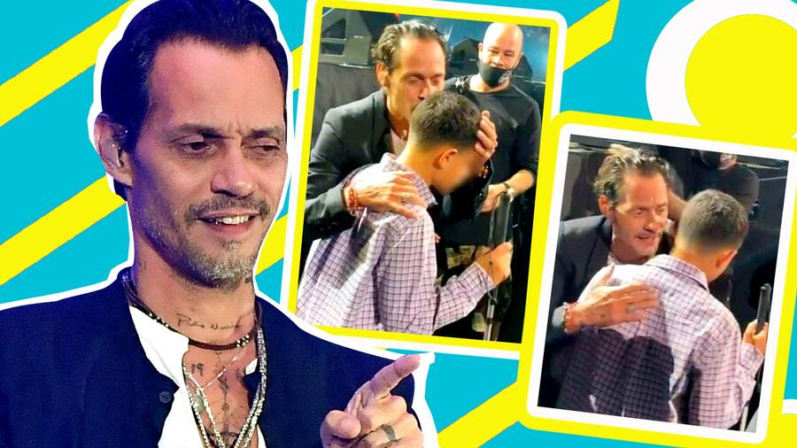 Marc Anthony le canta a un niño ciego y deja a todos con un nudo en la garganta