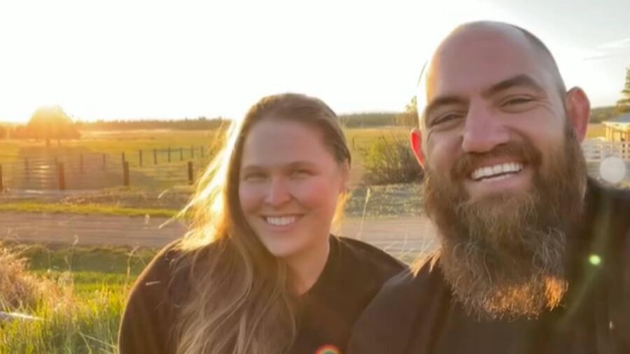 Ronda Rousey y su esposo Travis Browne