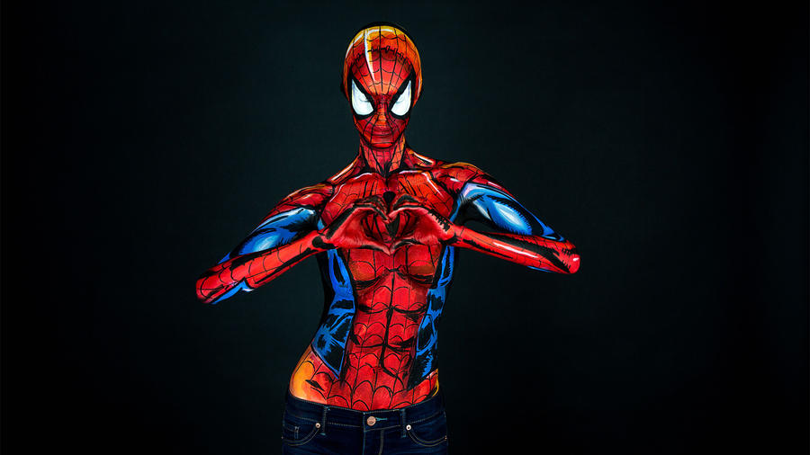 Comic Villains Body Painting
