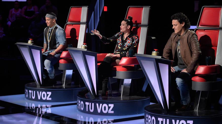 Pedro Fernández Natalia Jiménez y Daddy Yankee La Voz Kids 2016