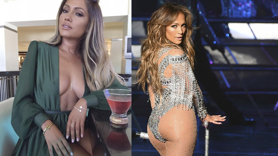 Jessica Burciaga es igualita a Jennifer Lopez