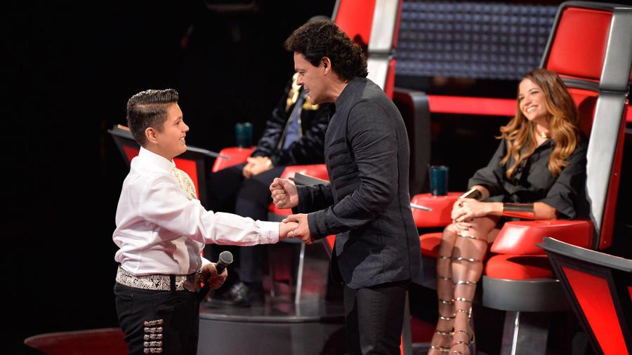Luis Pedro Fernández en la tercera ronda de batallas de La Voz Kids