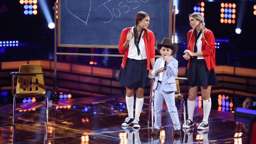 Jossue en la segunda gala de La Voz Kids