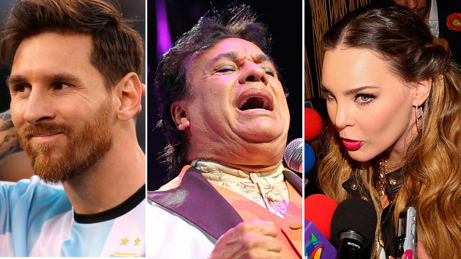 Messi, Belinda y Juan Gabriel