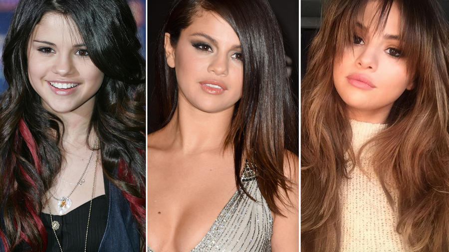 Así ha cambiado de look cabellera de Selena Gomez a través del tiempo