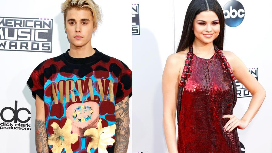 Justin Bieber y Selena Gomez en los American Music Awards