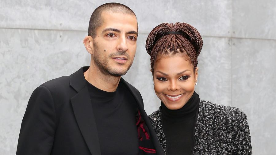 Janet Jackson y Wissam Al Mana en la Milan Fashion Week de 2013.