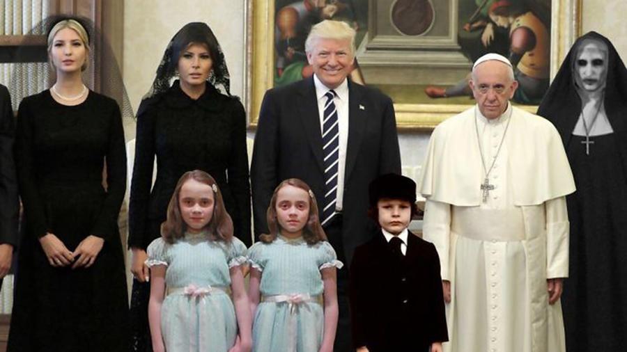Los memes del encuentro entre el papa y Trump.