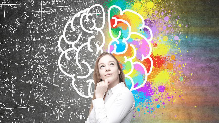 Cerebro artístico y matemático